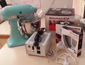 Kitchenaid Artisan Stand Mixer In Aqua Sky   Kroonstad