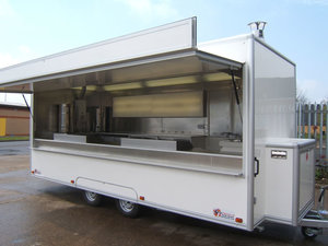 Small Price Outdoor Used Fast Food Mobile Kitchen Barbecue