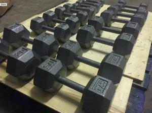 Buy Cast Iron Hex Dumbbells Full Set 2kg To 20kgs