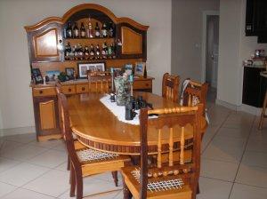 Yellowwood And Imbuia Diningroom Set